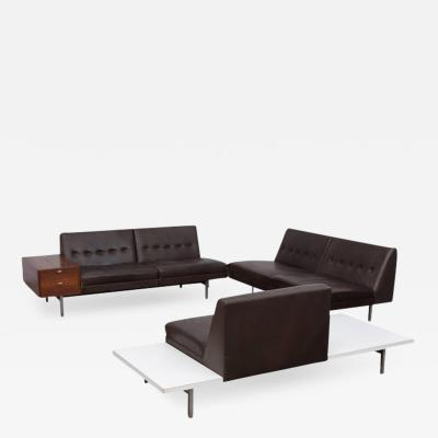 George Nelson George Nelson Modular System Dark Brown Leather