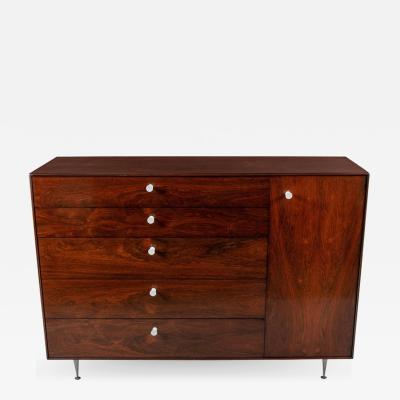 George Nelson George Nelson Rosewood Thin Edge Chest of Drawers Cabinet Herman Miller 1950s