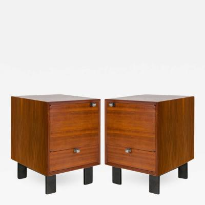 George Nelson George Nelson Walnut Nightstands for Herman Miller USA 1950s