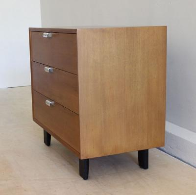 George Nelson George Nelson for Herman Miller Three Drawer Walnut Dresser