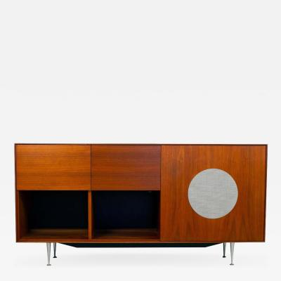 George Nelson George Nelson for Herman Miller Walnut Thin Edge HiFi Media Cabinet 1952