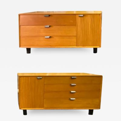 George Nelson MID CENTURY PAIR OF GEORGE NELSON FOR HERMAN MILLER PRIMAVERA CABINETS