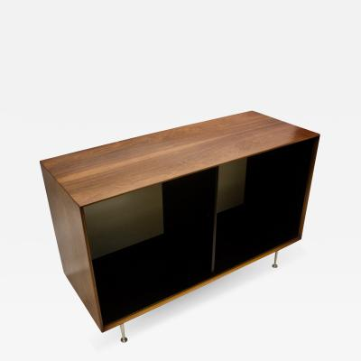 George Nelson Mid Century George Nelson Rosewood Thin Edge Open Storage Cabinet