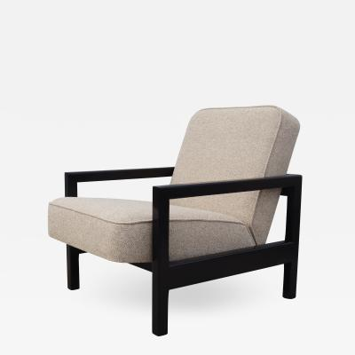 George Nelson Open Arm Ebonized Lounge Chair by George Nelson for Herman Miller