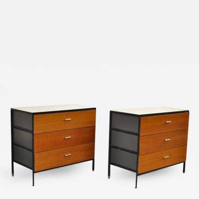 George Nelson Pair of George Nelson Steel Frame Dressers