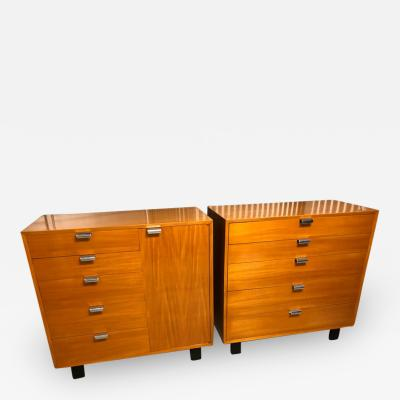 George Nelson Pair of George Nelson for Herman Miller Bureau Cabinets