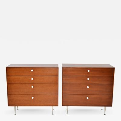 George Nelson Pair of Thin Edge Chests by George Nelson for Herman Miller
