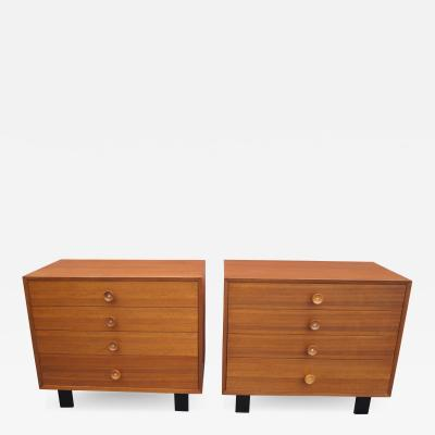 George Nelson Pair of Walnut Dressers Model 4606 by George Nelson for Herman Miller