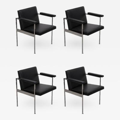 George Nelson Set of Four Paddle Armchairs by George Nelson for Herman Miller