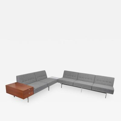 George Nelson Two Modular Sofas with Table and Drawers by George Nelson for Herman Miller US