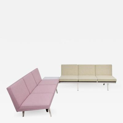 George Nelson Two Tone Steel Frame Sofa Set by George Nelson