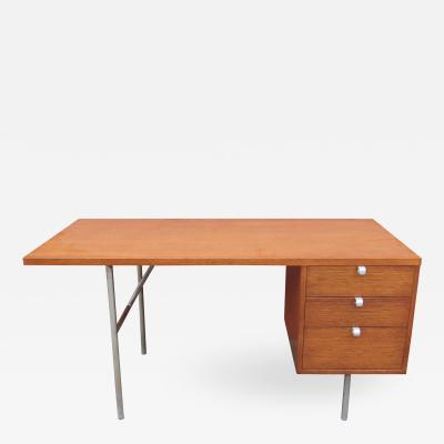 George Nelson Walnut and Steel Desk by George Nelson for Herman Miller