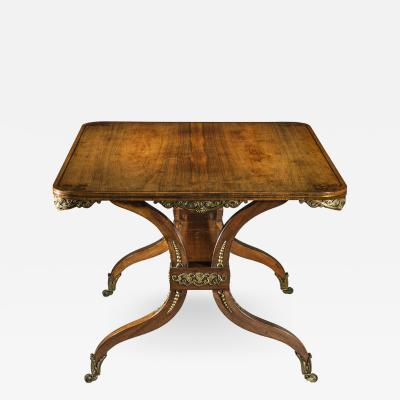 George Oakley 19th Century Regency Rosewood Ormolu Library Table circa 1815