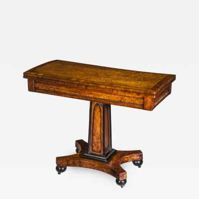 George Oakley Fine Regency Amboyna Side Table