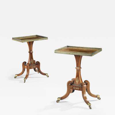George Oakley Pair of Pure Regency Rosewood Occassional Side Tables