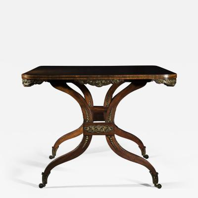 George Oakley Regency Rosewood Ormolu Mounted Center Table attributed to George Oakley