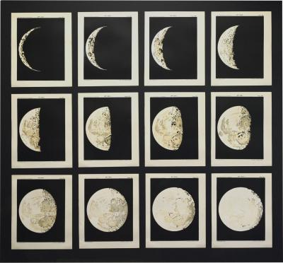 George Philip Set of 12 charts showing the phases of the Moon