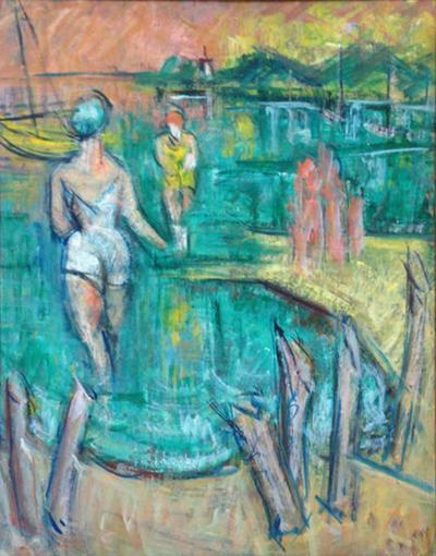 George Schwacha George Schwacha New Jersey Bathers Painting