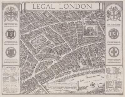 George Spencer Hoffman A map of Londons Inns of Court