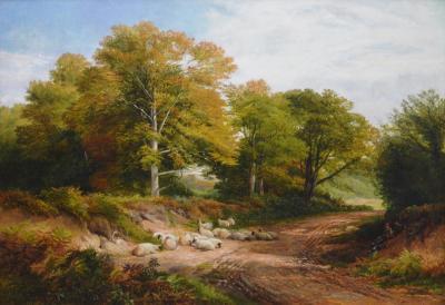 George Turner Froggatt Derbyshire Large 19th Century English Landscape Oil Painting