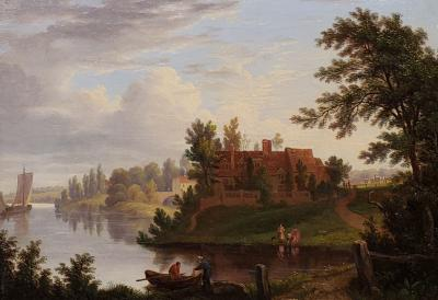 George Vincent Landscape painting of the River Yare in Norwich United Kingdom