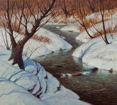 George William Sotter Brook in Winter