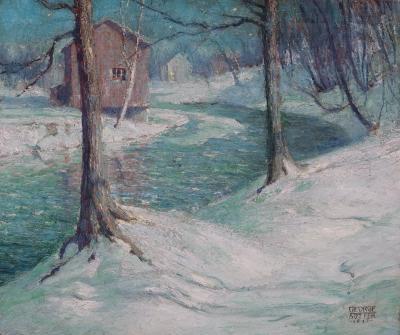 George William Sotter Winter Moonlight
