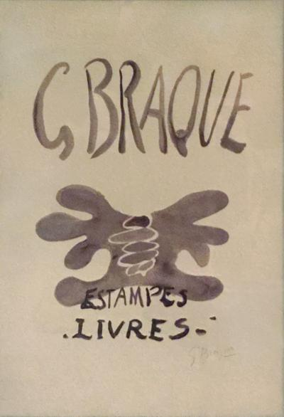 Georges Braque Limited Edition Estampes Livres 1958 Signed Lithograph on Paper