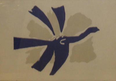 Georges Braque Signed Georges Braque Lithograph le Ciel Bleu 1962
