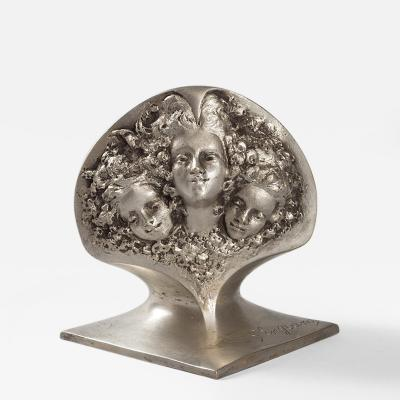 Georges Engrand Patinated Bronze Figural Jardiniere