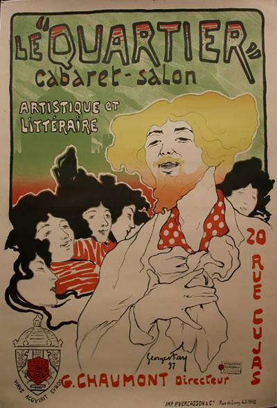Georges Fay Le Quartier a French Turn of the Century Poster by Georges Fay 1897