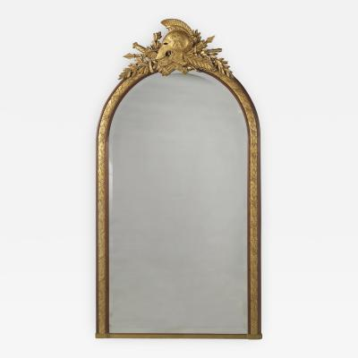 Georges Fran ois Alix An Empire Style Mahogany Overmantel Mirror
