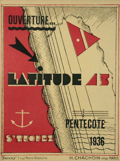 Georges Henri Pingusson French Art Deco Period Poster for Latitude 43 1936