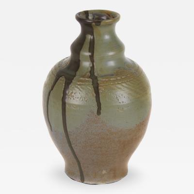 Georges Hoentschel French Art Nouveau Period Stoneware Vase by Georges Hoentschel Circa 1895 1900