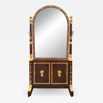 Georges Jacob Mahogany Cheval Dressing Mirror Attributed to Georges Jacob