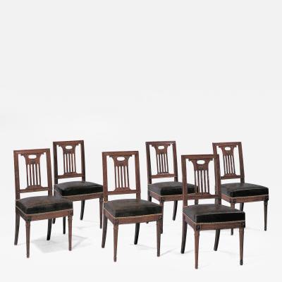 Georges Jacob Twelve Dining Chairs Georges Jacob Maitre 1765 Paris France ca 1785