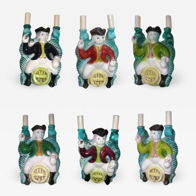 Georges Jouve Set of six Sconces by Georges Jouve France 1940s