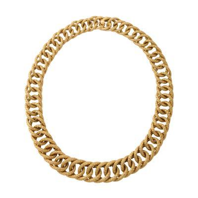Georges L Enfant A Gold Curb Link Necklace