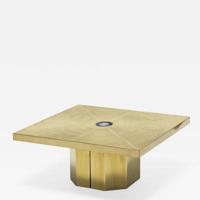 Georges Mathias Post War Design Brass Coffee Table