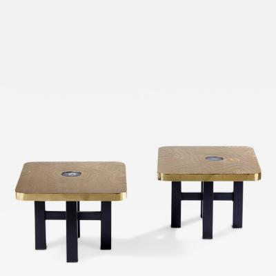 Georges Mathias T 09 Pair of End Tables by Georges Mathias