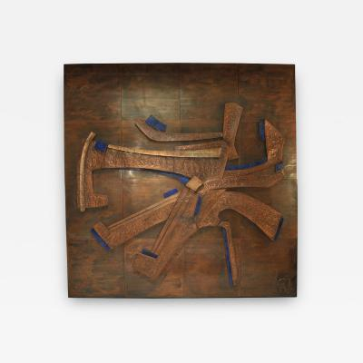 Georges Muller Decorative Copper Panel