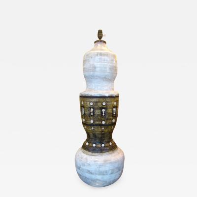 Georges Pelletier Large lamp base in ceramic by George Pelletier France circa 1970