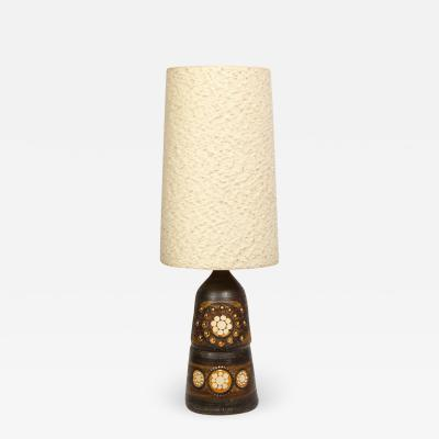 Georges Pelletier Mid Century Modern Handpainted Cut Out Ceramic Table Lamp by Georges Pelletier