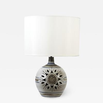 Georges Pelletier Nice ceramic lamp attributed to Georges Pelletier