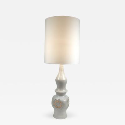 Georges Pelletier White Ceramic Lamp by Goerges Pelletier