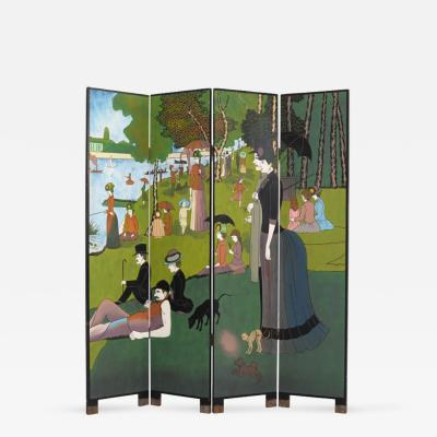 Georges Seurat Georges Seurat Inspired Room Divider