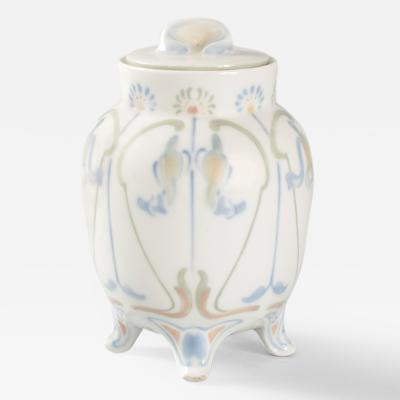 Georges de Feure French Art Nouveau Covered Porcelain Jar by de Feure