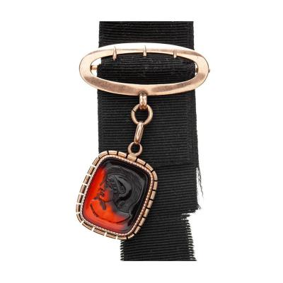 Georgian Carnelian Rose Gold Watch Fob