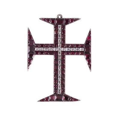 Georgian Garnet Paste Cross