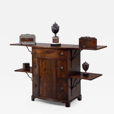 Georgian Mahogany Bow Fronted Sideboard Buffet of Unusual Design